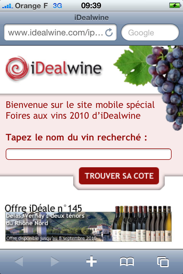 iphone idealwine