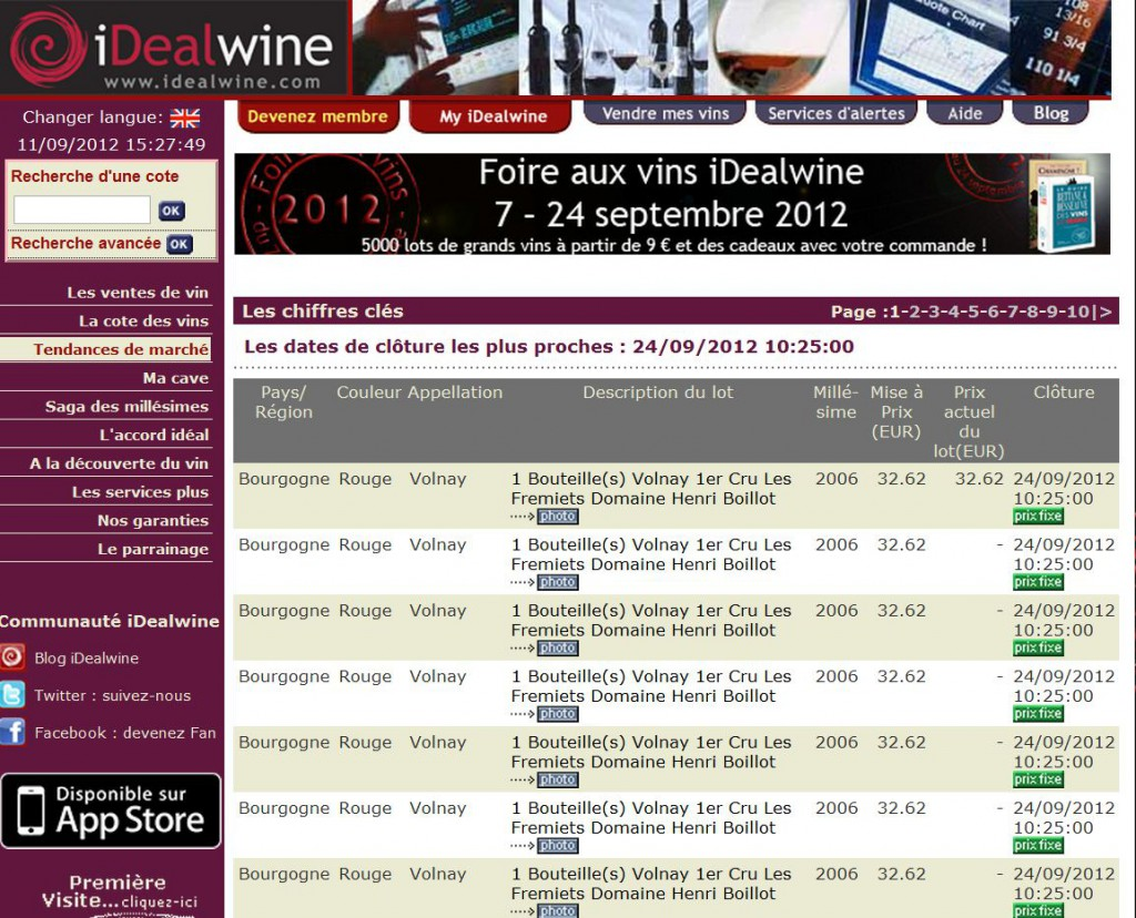 iDealwine catalogue VPF