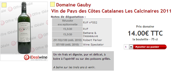 Gauby Les Calcinaires