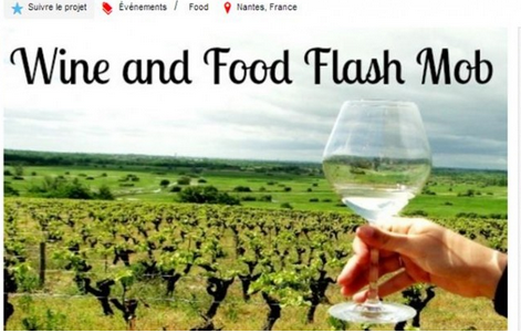 wine and food flashmob