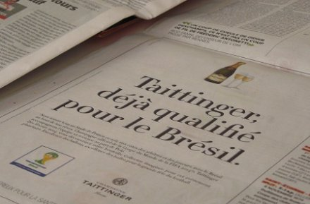 Taittinger, sponsor officiel de la Coupe du monde de football… sauf en France !