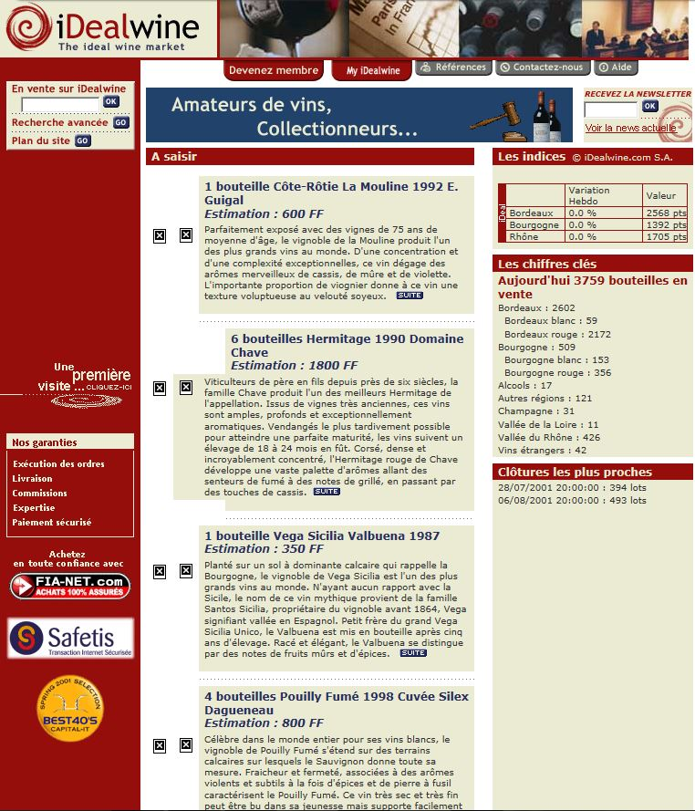 ancienne home page