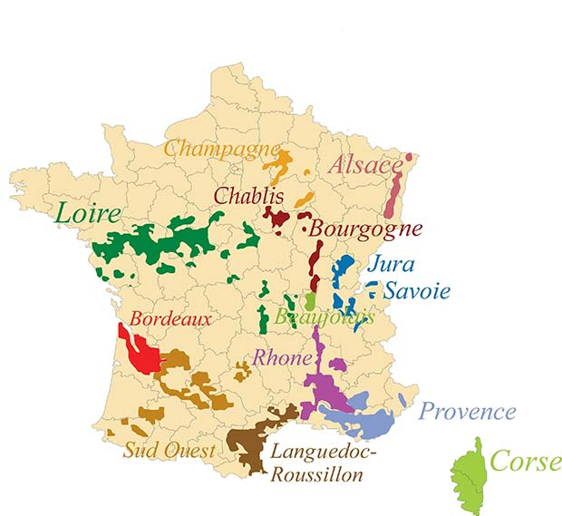 Appellations vignoble