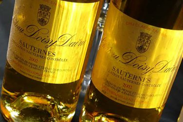 Accords mets vins Sauternes