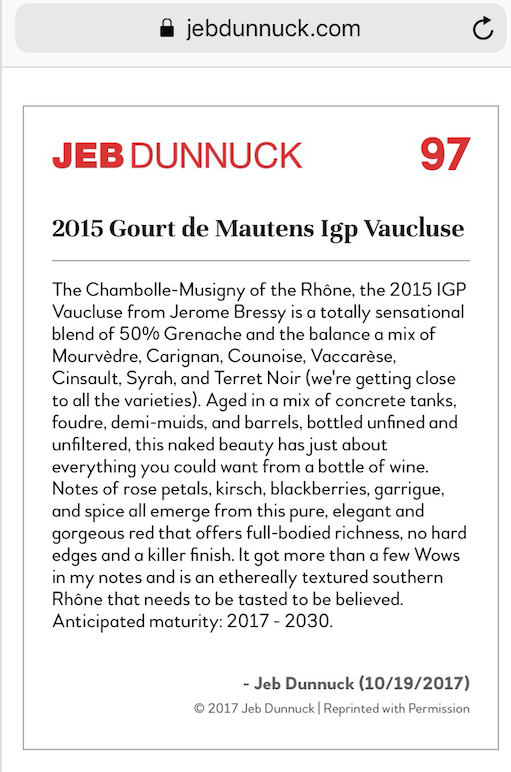 Jeb dunnuck rouge 2015