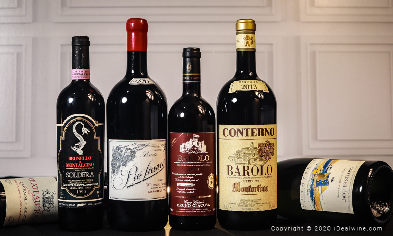 Collection Particuliere encheres iDealwine vin Barolo Selosse